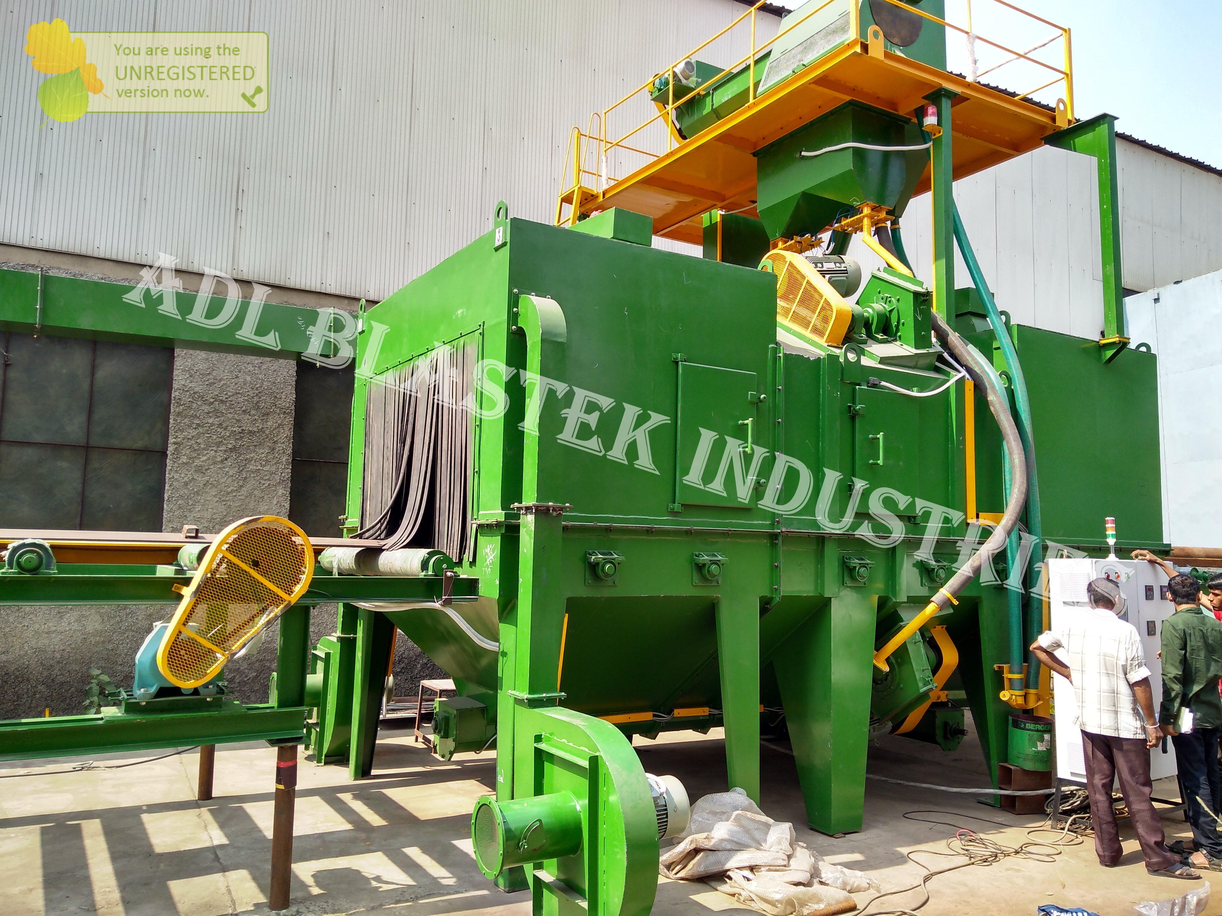 Shot Blasting Machine for Structure cleaning