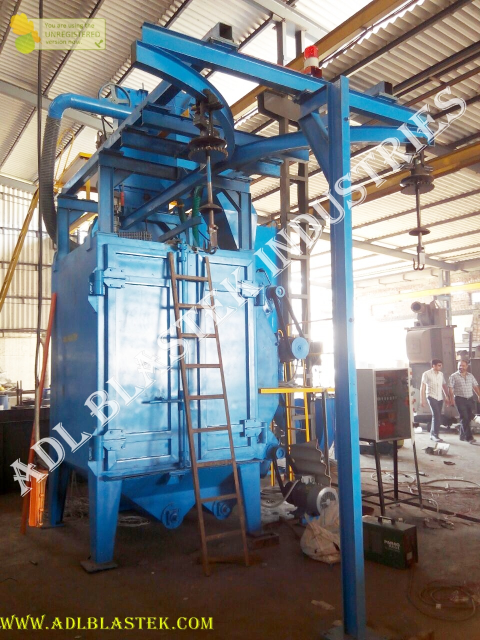 Y-Hanger_Type_Shot_blasting_machine